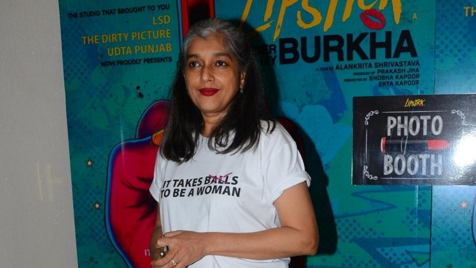 Ratna Pathak Shah during the trailer launch of film Lipstick Under My Burkha, in Mumbai.