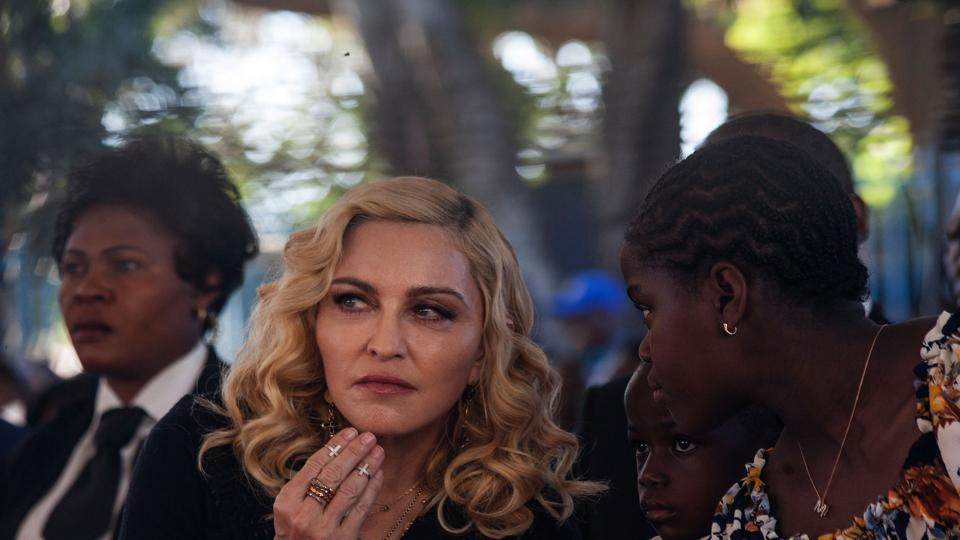United States Pop Music singer Madonna looks one inside the Mercy James Centre during the opening ceremony.