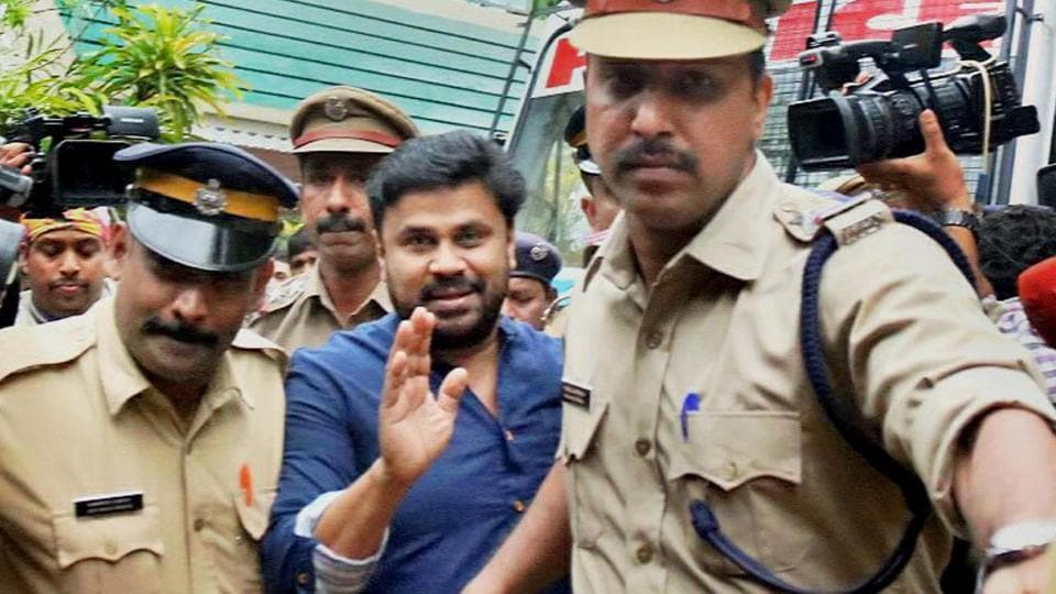 Dileep, who was arrested in connection with the abduction and assault case of a Malayalam actress, being produced before the Magistrate court which sent him to 14 days judicial custody, in Kochi on Tuesday.