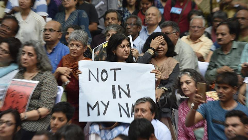 'Not In My Name' protests were earlier held across 10 cities on June 28 against lynchings by cow vigilantes.