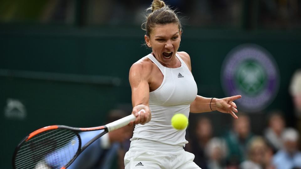 Simona Halep lost out to local favourite Johanna Konta.  (AFP)