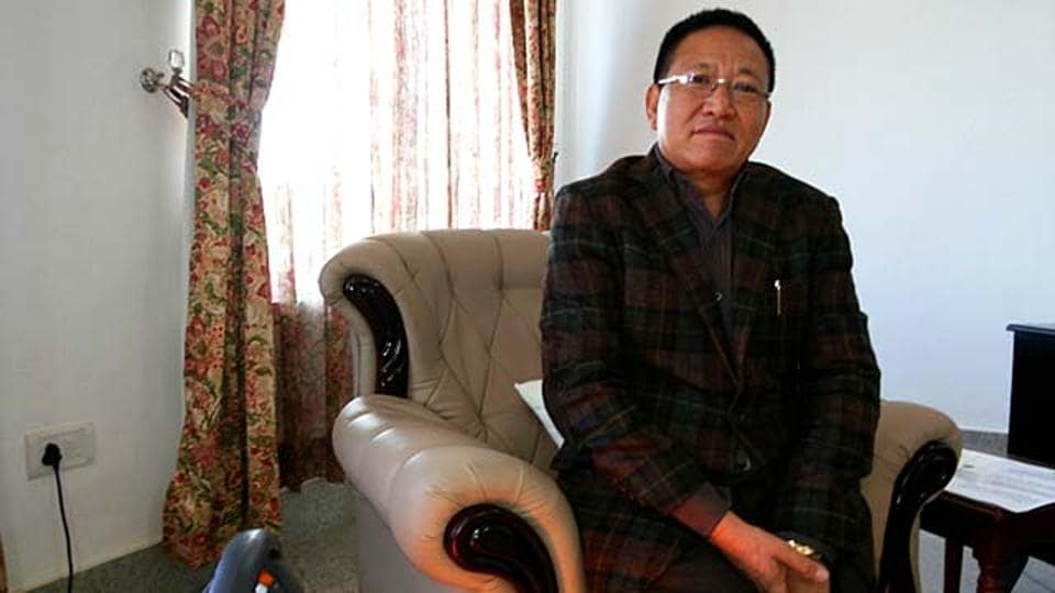 File photo of former Nagaland chief minister TRZeliang claims to have the support  of 44 MLAs  in the 60-member state Assembly.