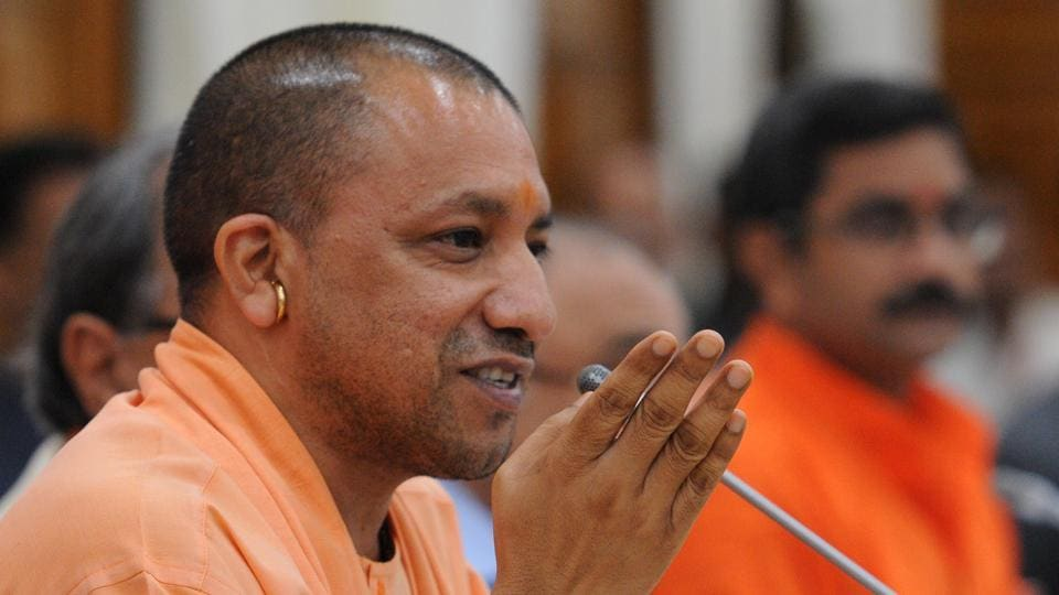 CM Yogi Adityanath holds a press conference after UP govt presents its first annual budget.