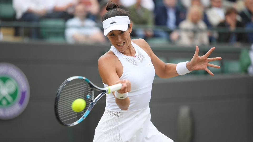 Garbine Muguruza defeated Svetlana Kuznetsova 6-3, 6-4.  (REUTERS)