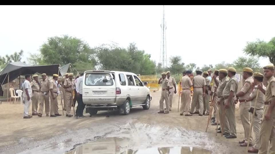 A police force of over 2,500 personnel had been deployed at the site of the rally in Rajasthan's Nagaur.