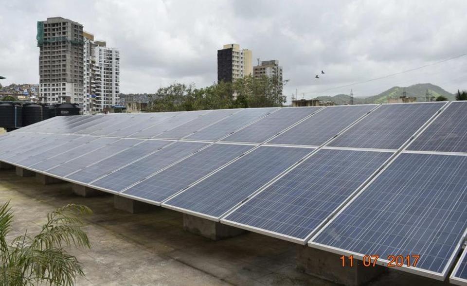 The 34 solar panels installed on Ratnam college premise