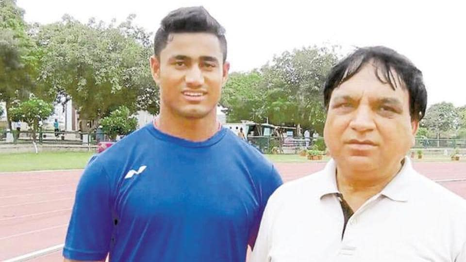 Sundar Gurjar (L) is hoping to bury the ghost of Rio with a podium finish at the World Championships in London.