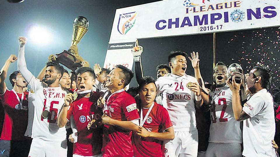 Aizawl FC became the first team from the Nort-East to win the I-League in the 2016-17 season.