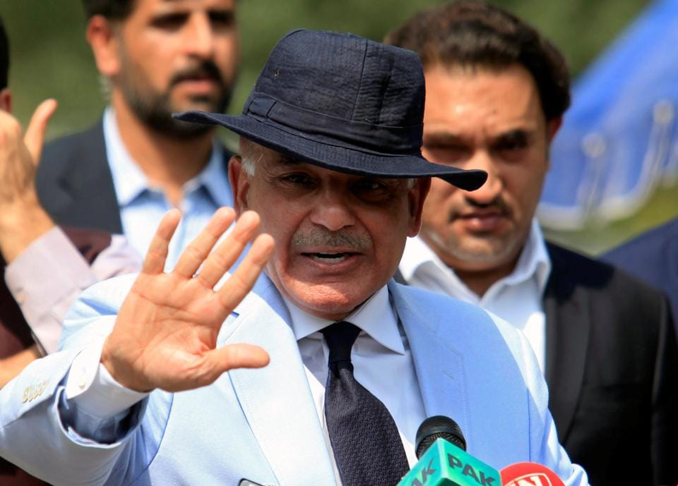 File photo of Punjab province Chief Minister Shahbaz Sharif.