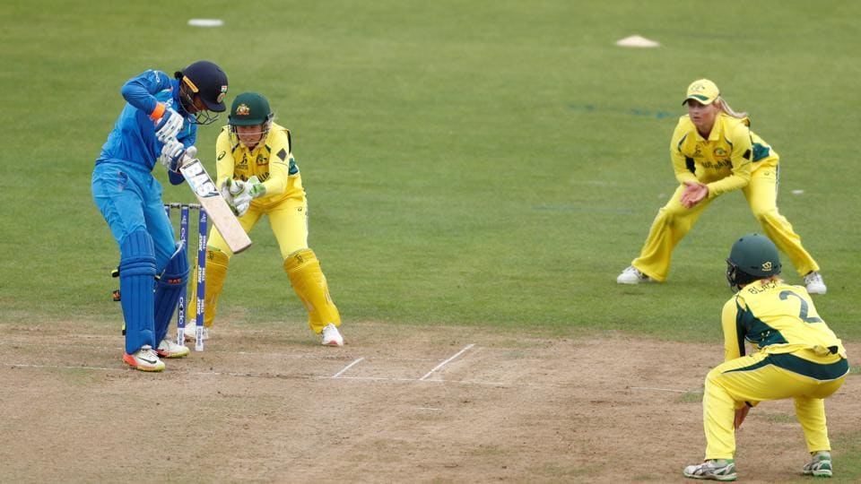 Australia won the toss and chose to bowl and they struck immediately when they got rid of Smriti Mandhana for 3. (Action Images via Reuters)