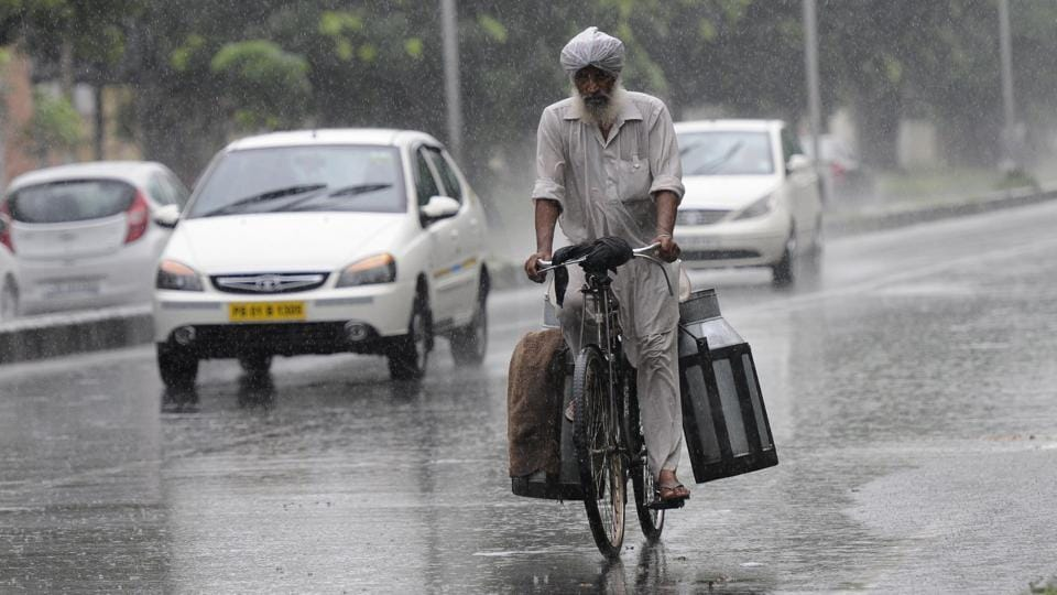 Rain lashed Chandigarh on Wednesday morning, bringing relief from the sweltering heat.