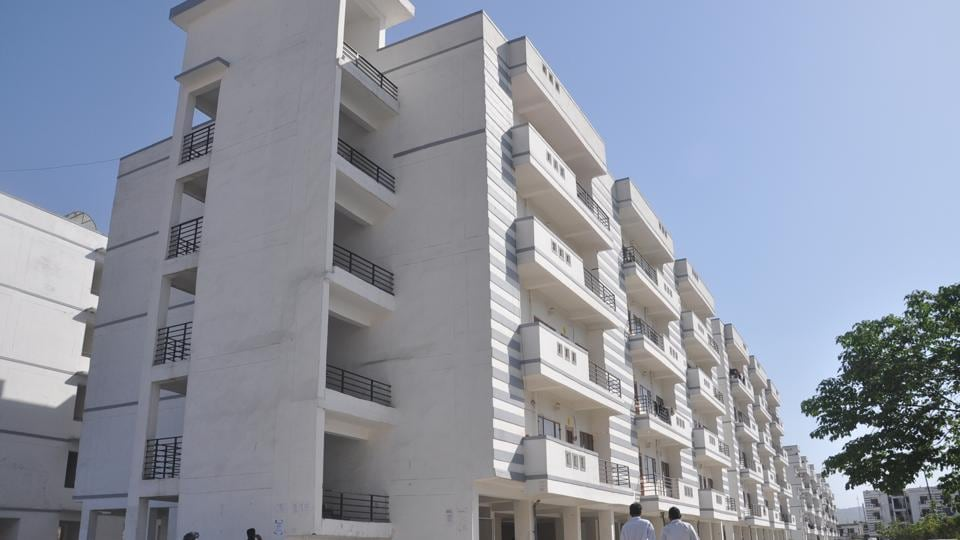 Flats built by MDDA in Dehradun. The state government considers taking over private and government-made flats for national games sports village.