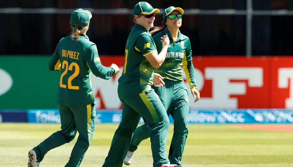 South Africa thrashed Sri Lanka by eight wickets as they came one step closer to entering the ICC Women's World Cup semi-final. Get full cricket score of SouthAfrica vs Sri Lanka, ICCWomen's World Cup 2017, here