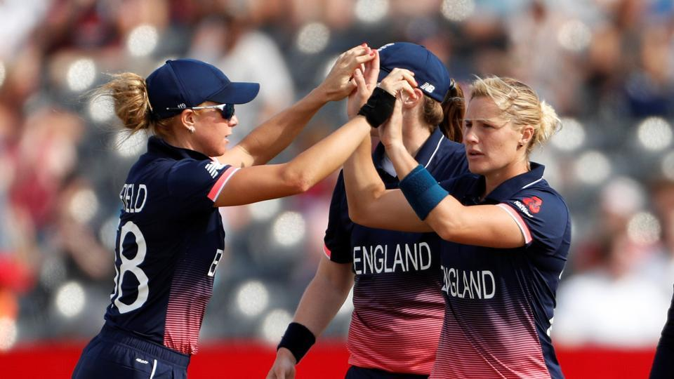 England thrashed New Zealand by 75 runs to enter ICC Women's World Cup semis. Get full cricket score of England vs New Zealand, ICC Women's World Cup, here