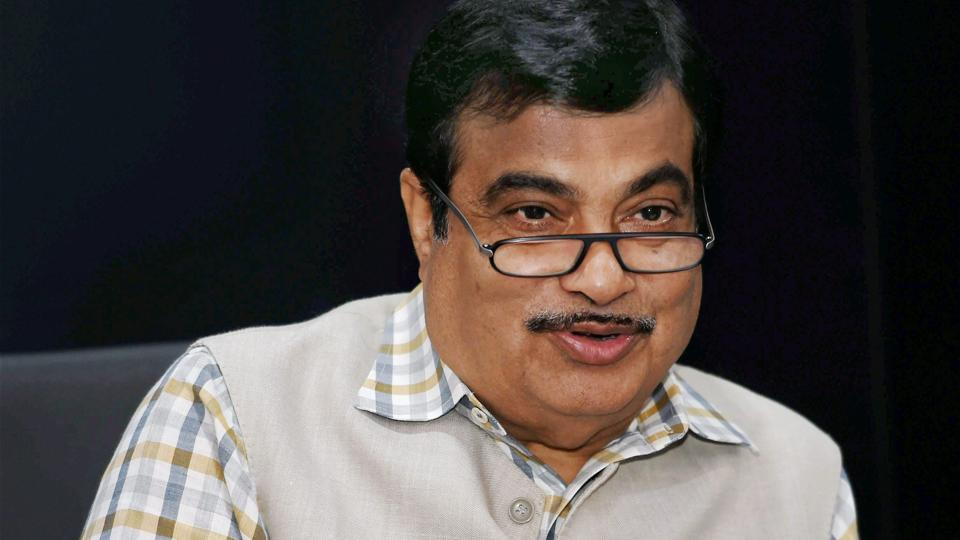 Union Transport and Highways Minister Nitin Gadkari addresses a press conference in New Delhi on Wednesday.