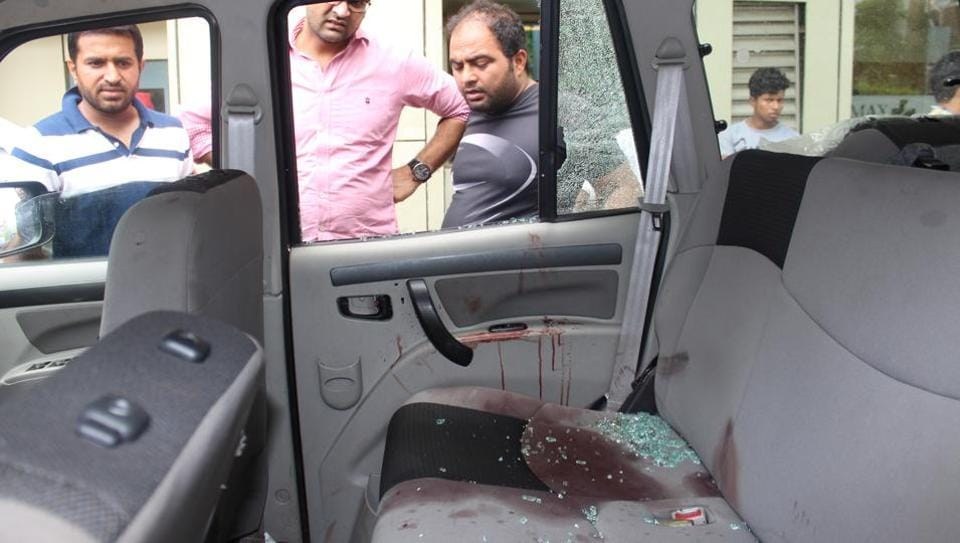 The duo was returning from the Ghaziabad court after a hearing when their SUV was cornered by armed assailants on the Hindon barrage road, the police said.