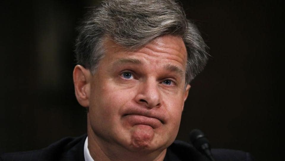 Christopher Wray testifies before a Senate Judiciary Committee confirmation hearing on his nomination to be the next FBI director on Capitol Hill in Washington.