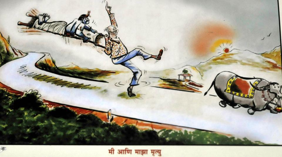 Cartoons by Mangesh Tendulkar in Pune on Tuesday, July 11, 2017.