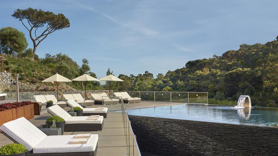 The swimming pool at the Penha Longa Resort.