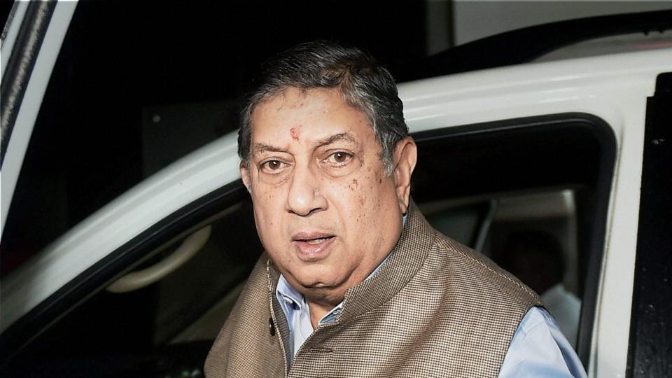 N Srinivasan,Niranjan Shah,BCCI