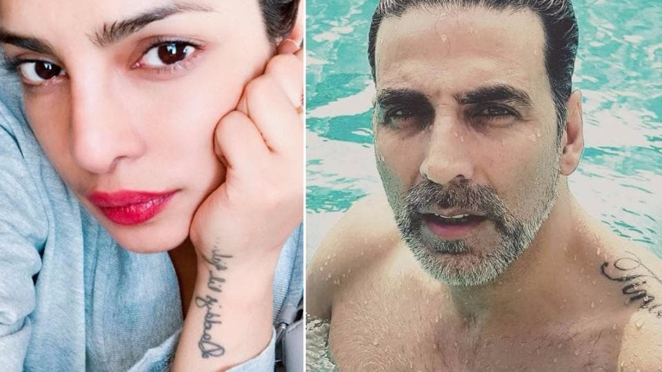 Several stars in Bollywood have tattoos that tell a story.