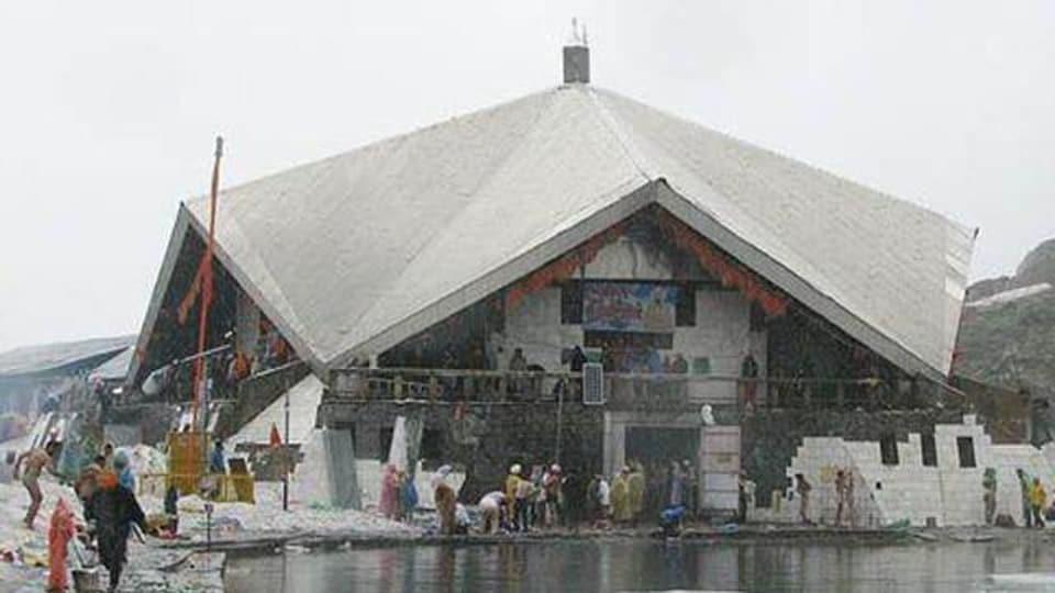 Hemkunt Sahib gurdwara in Uttarakhand