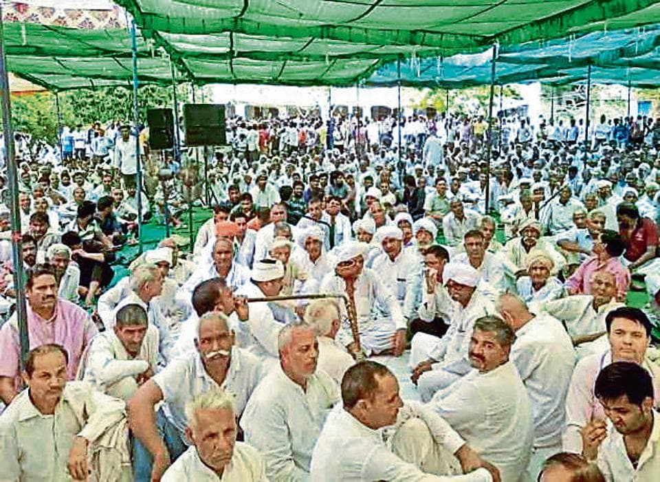 The marathon mahapanchayat that started around 10 am lasted for seven hours. Villagers from different parts Haryana constituted a 51-member committee to build pressure on the government for a `fair investigation'.