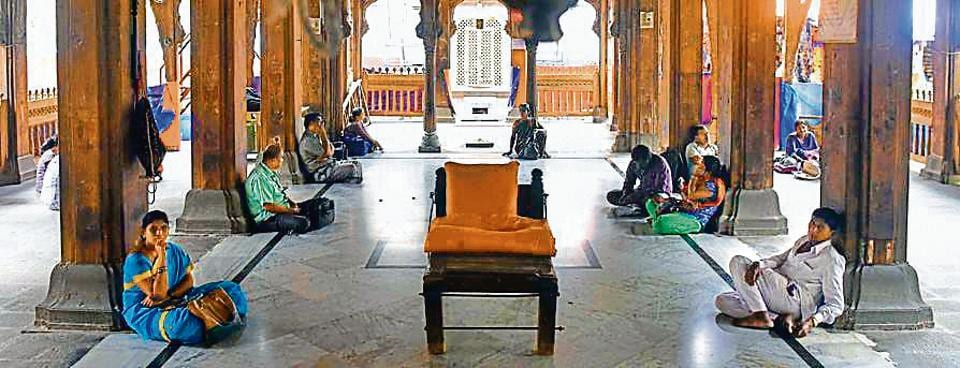 People in the city often seek quiet time in the temple confines away from the city's noise.