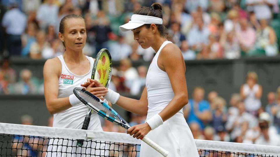 Muguruza stormed into her second Wimbledon final in three years with a 6-1, 6-1 demolition of nerve-ridden Magdalena Rybarikova in just 64 minutes on Thursday. (Reuters )