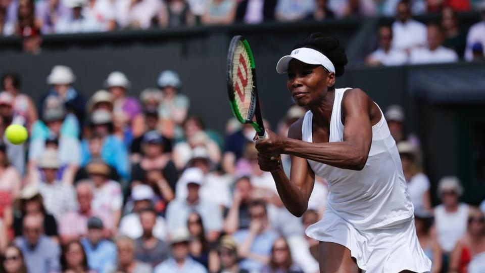 Venus Williams produced a clinical performance to claim a 6-4, 6-2 win over Johanna Konta. (Twitter )
