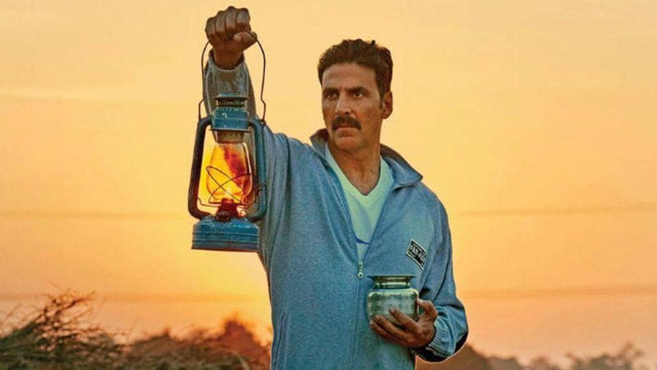 In Toilet:Ek Prem Katha, Keshav (played by Akshay Kumar) vows to prove his love for his wife Jaya (played by Bhumi Pednekar) by building her a toilet.