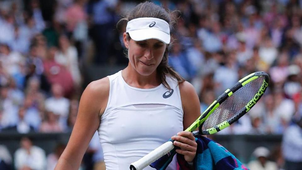 Konta was looking to become the first woman on home soil to reach the Wimbledon final since Virginia Wade in 1977, but she was picked off at crucial times by the 37-year-old Venus.  (AFP )