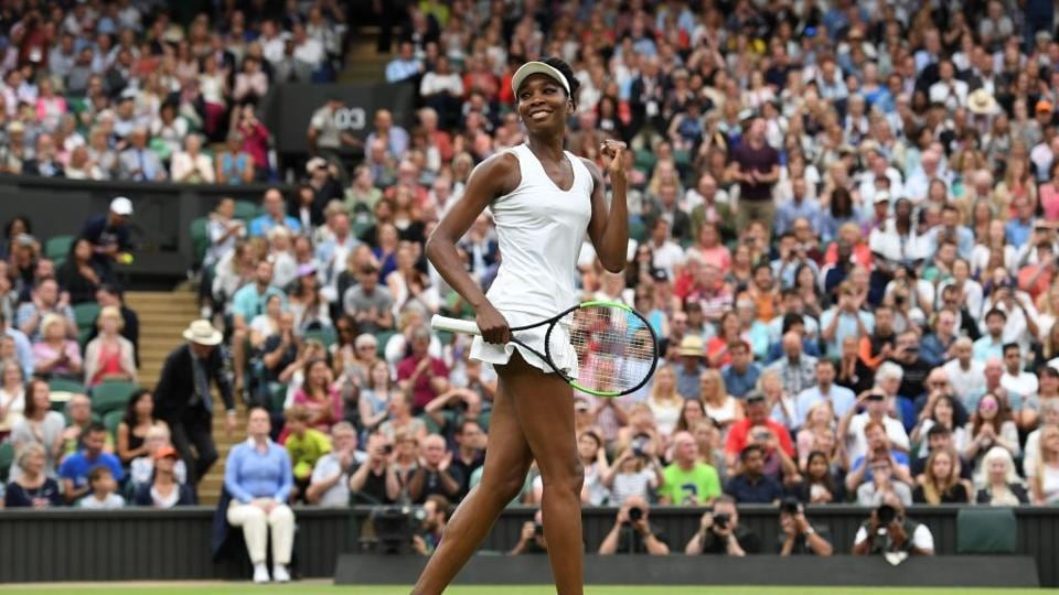 Twenty years after making her Wimbledon debut, five-time champion Venus Williams is into her ninth final at the All England Club and her first since 2009. (AFP )