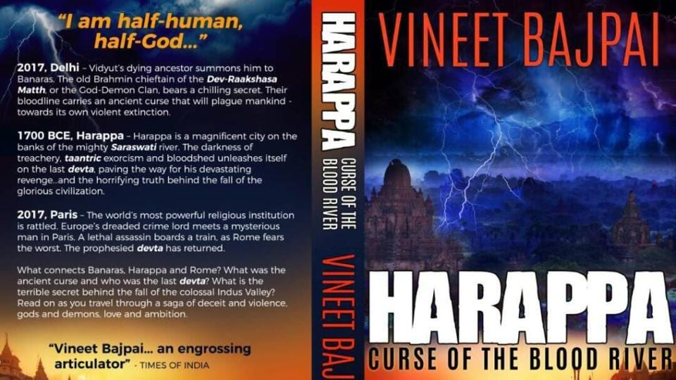 The cover of Vineet Bajpai's book, Harappa: Curse of Blood River.
