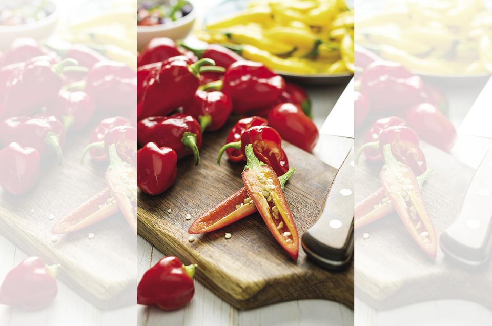 The so-called 'peppers', near to what we prefer to call capsicum, are found in Italian cuisine.