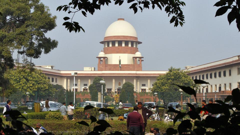 A view of the Indian Supreme Court building is seen in New Delhi .