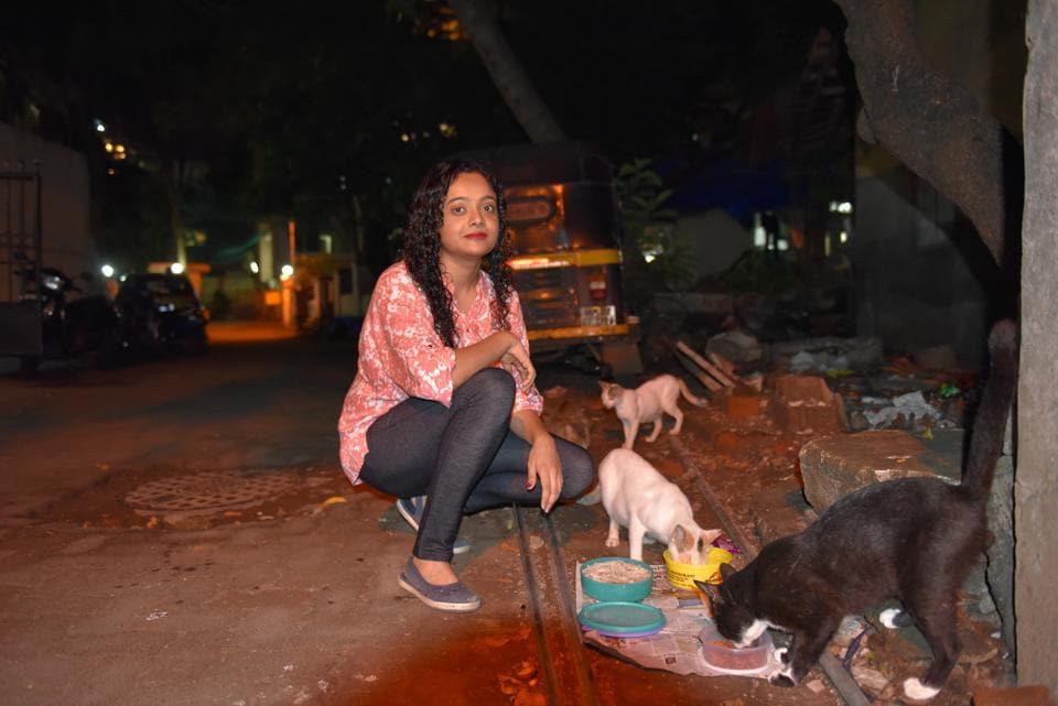 Stray cats need care, says Bandra entrepreneur Nimisha Gaurishankar.