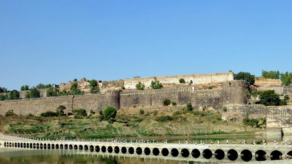 Gagron Fort in Jhalawar, which is a major tourist attraction.