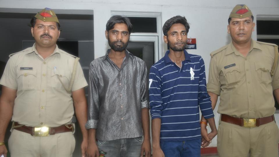 Jay Kumar and Neeraj Kumar in police custody.