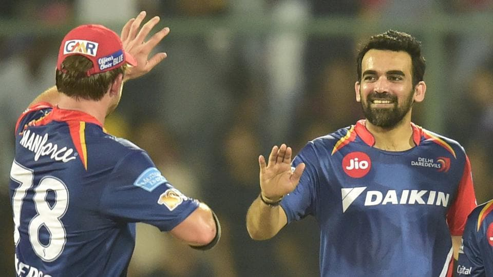 Zaheer Khan captains Indian Premier League outfit Delhi Daredevils.