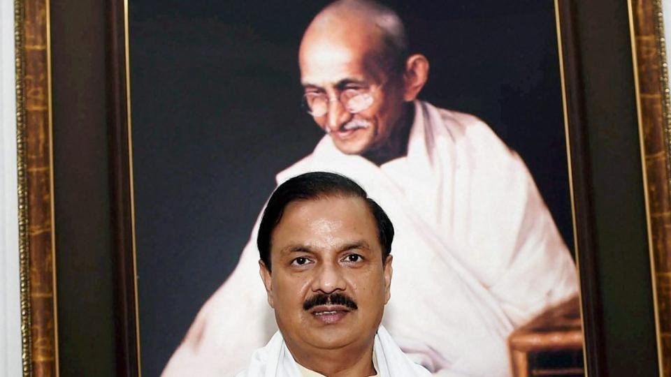 Mahesh Sharma at the release of a book entitled 'Historical Background to the Imposition of Salt Tax under the British Rule in India (1757-1947) and Mahatma Gandhi's Salt Satyagraha (1930-31) against the British Rule Background' at Gandhi Smriti in New Delhi.