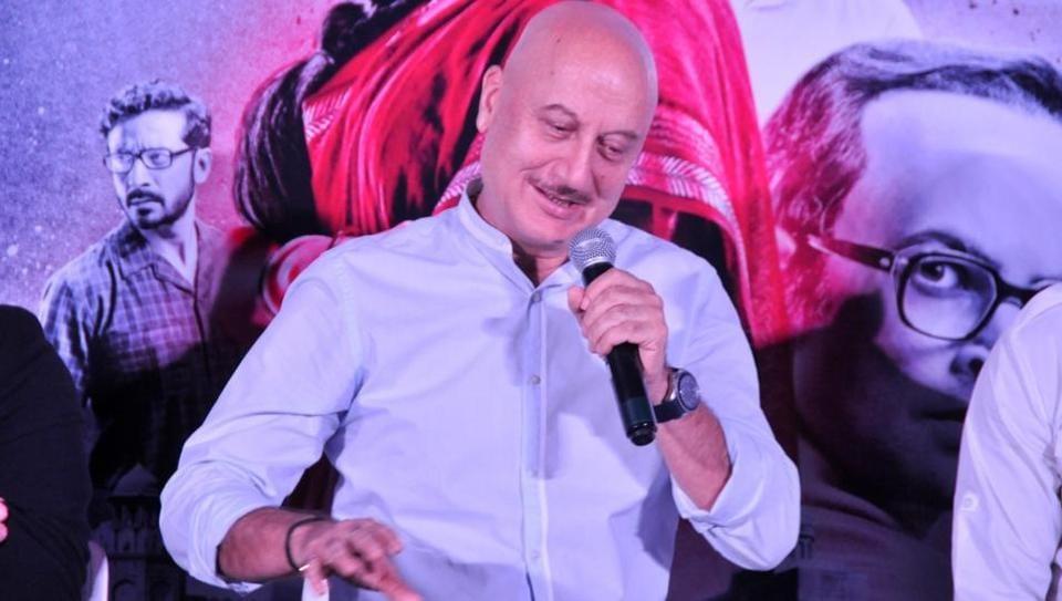 Anupam Kher during trailer launch of his upcoming film Indu Sarkar in Mumbai.