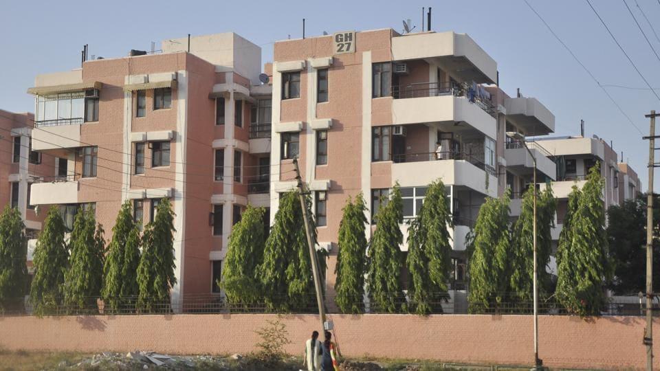 A group housing society in Panchkula.