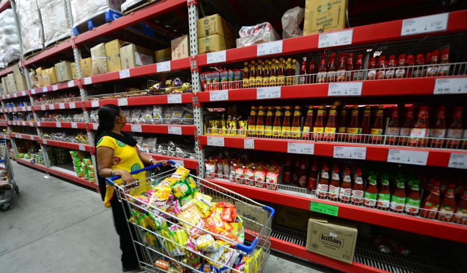 Walmart store in Meerut.