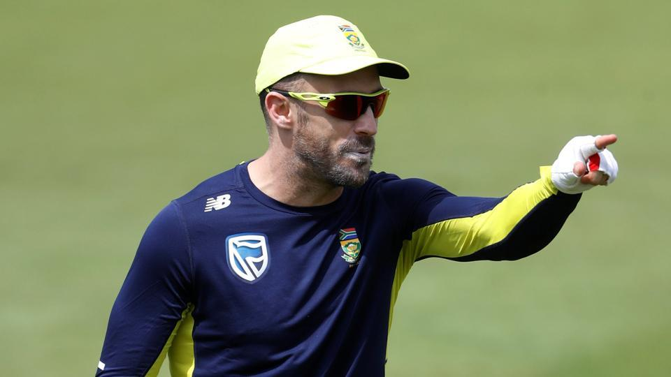 Faf du Plessis will lead South Africa in the second Test against England at Trent Bridge.