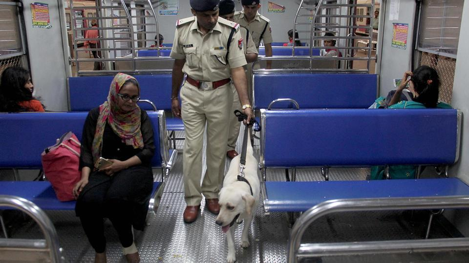 Sniffer dog squad too was called in. (Bhushan Koyande/HT PHOTO)