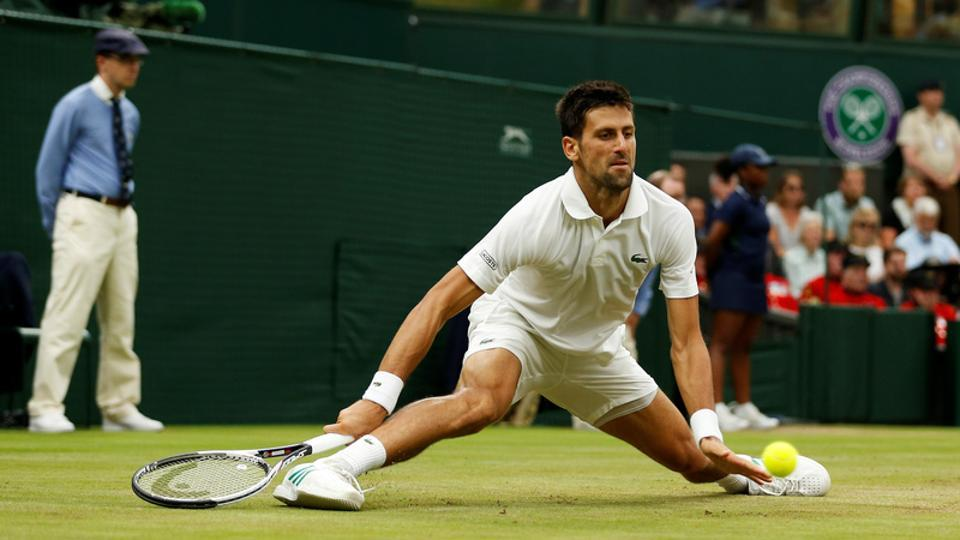Novak Djokovic retired hurt during his quarter-final against Tomas Berdych at the Wimbledon.