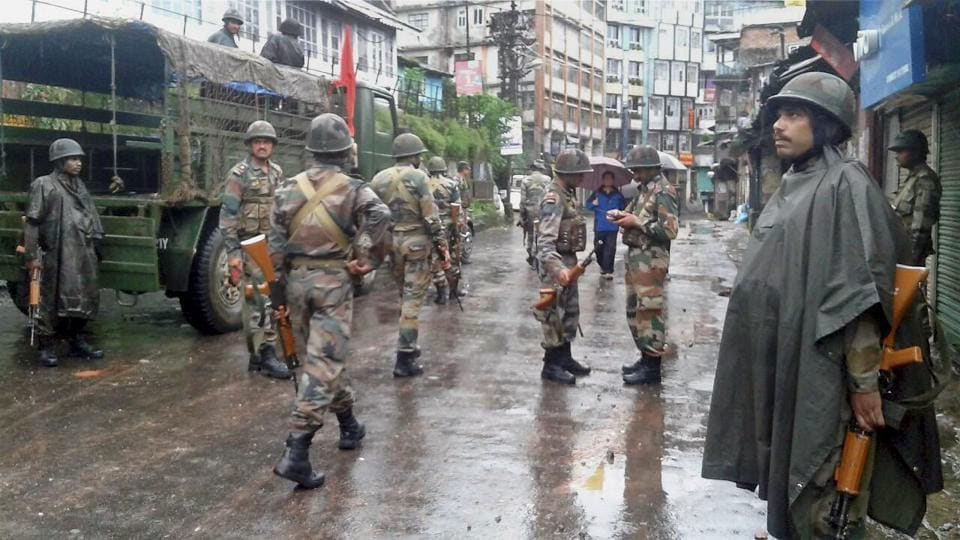 With the bandh in Darjeeling continuing since June 15, army personnel patrolling empty streets has become common sight in  the hill station.