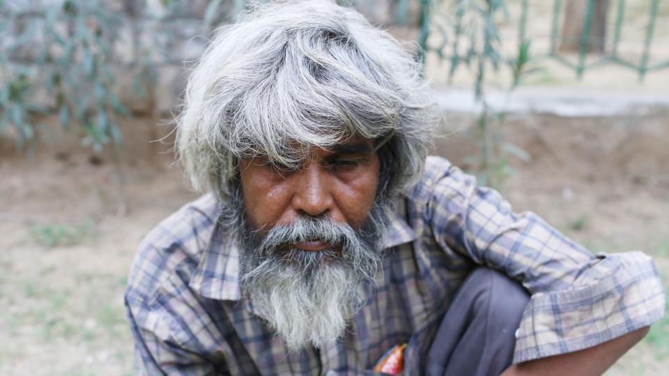 Dev Kumar near Malai Mandir in south Delhi.