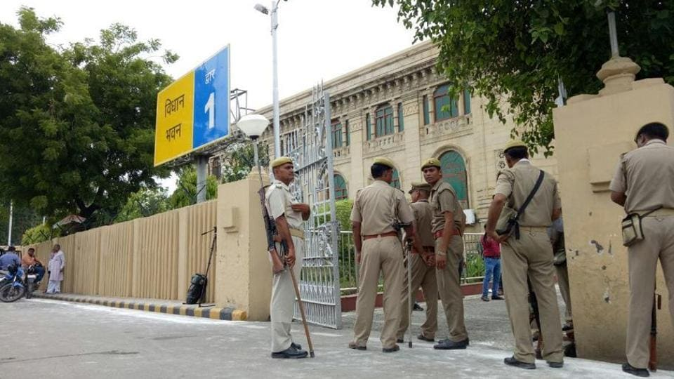 The Vidhan Sabha hall remains under the security of assembly's Marshals.